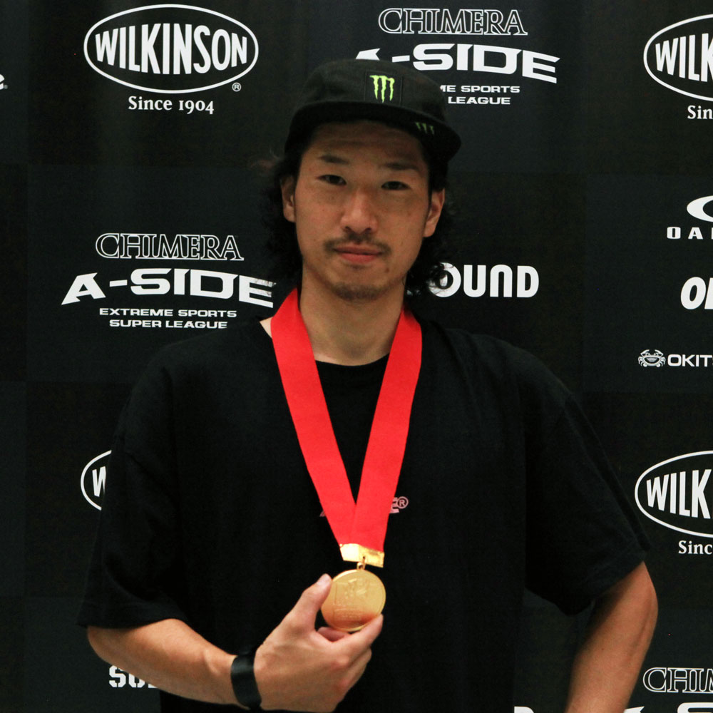 CHIMERA-A-SIDEの1stLEAGUE-2019のReport Pickup選手 MOTO SASAKI 画像:BMX-Flatland BMXフラットランド