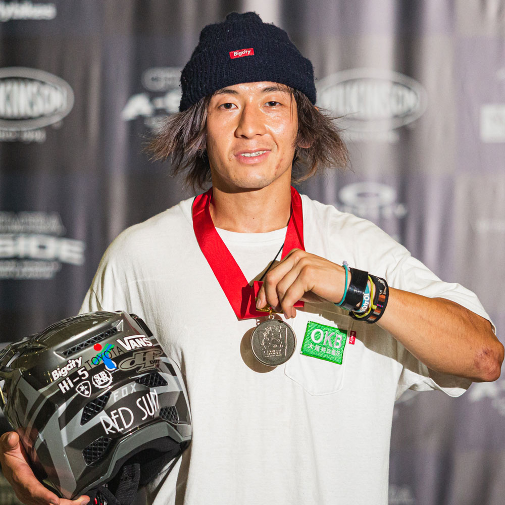 CHIMERA-A-SIDEの1stLEAGUE-2019のReport Pickup選手 TOSHIO TAKAGI 画像:BMX-FreestylePark BMXフリースタイルパーク