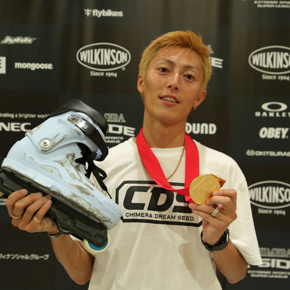 CHIMERA-A-SIDEの1stLEAGUE-2019のReport Pickup選手 SOICHIRO KANASHIMA 画像:Inline Skate インラインスケート