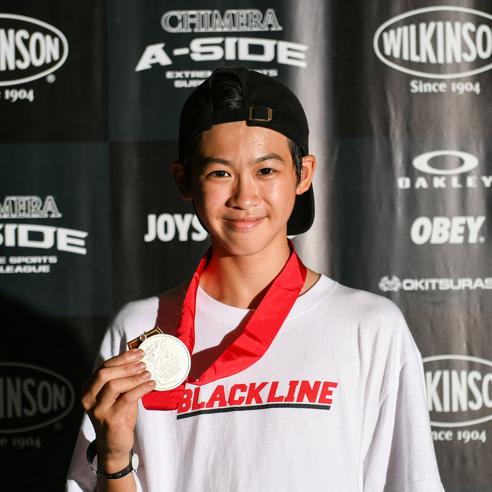 CHIMERA-A-SIDEの1stLEAGUE-2019のReport Pickup選手 RAIMU SASAKI 画像:Skateboard スケートボード