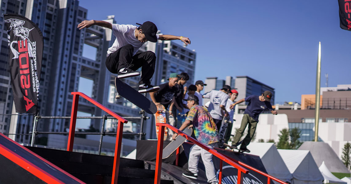 CHIMERA-A-SIDEのTHE FINAL-2019の競技エントリーボタン非リンク:Skateboard スケートボード