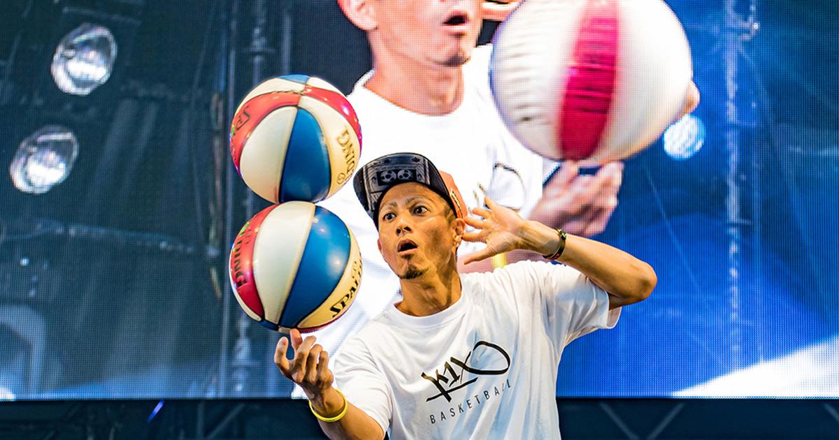 CHIMERA A-SIDEのTHE FINAL 2019のライブ&パフォーマンス:フリースタイルバスケットボール Freestyle Basketball