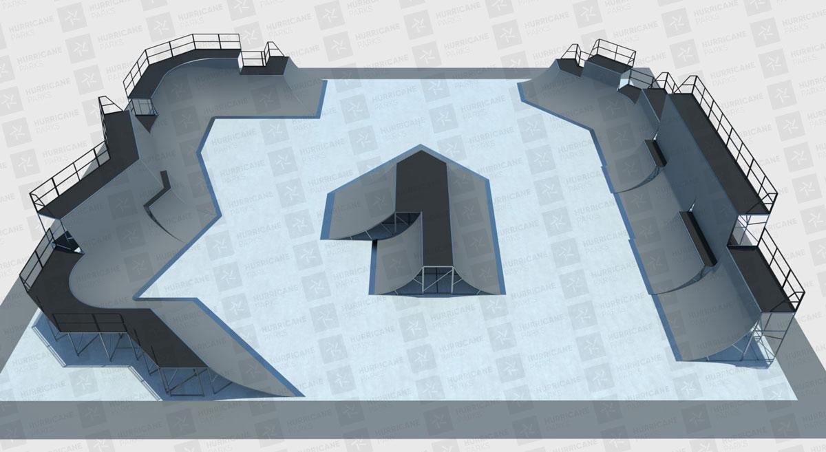 CHIMERA-A-SIDE2019_THE FINALのPARK LAYOUT画像:BMX-FreestylePark BMXフリースタイルパーク